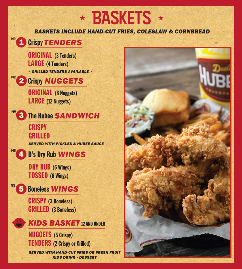 Main Menu Basket