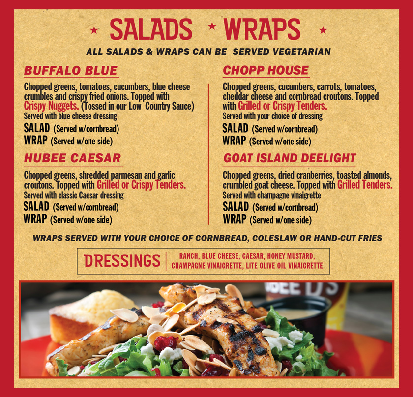 Main Menu Salads