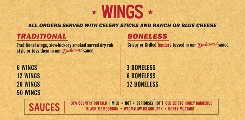 Main Menu Wings May 2014