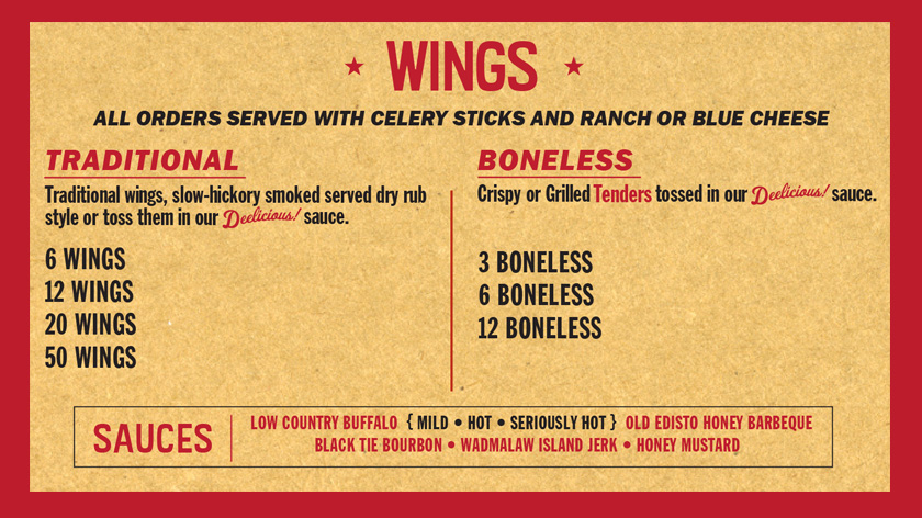 Main Menu Wings